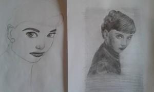 Viktória - 14 éves  tanulás előtt és után